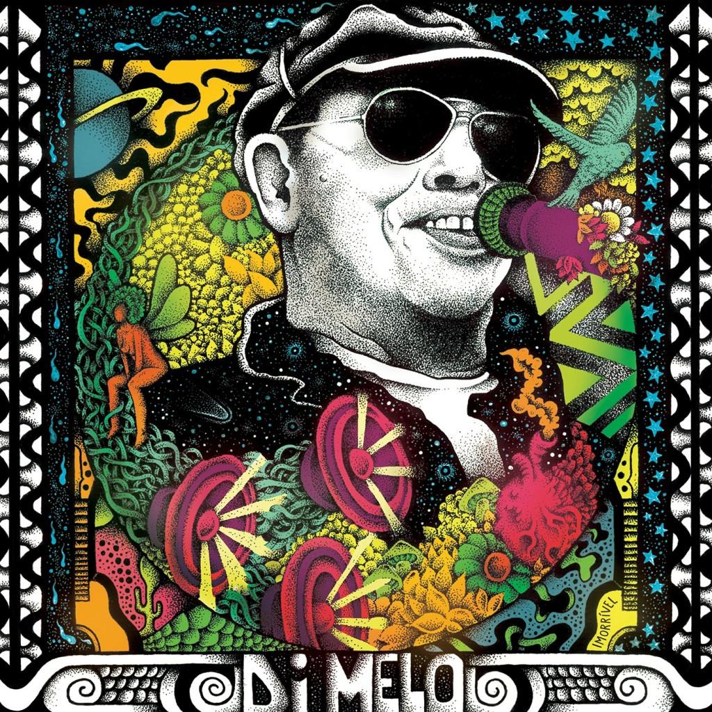 A capa do CD 'Di Melo, o imorrível' Arte de Ganjja Pessoa