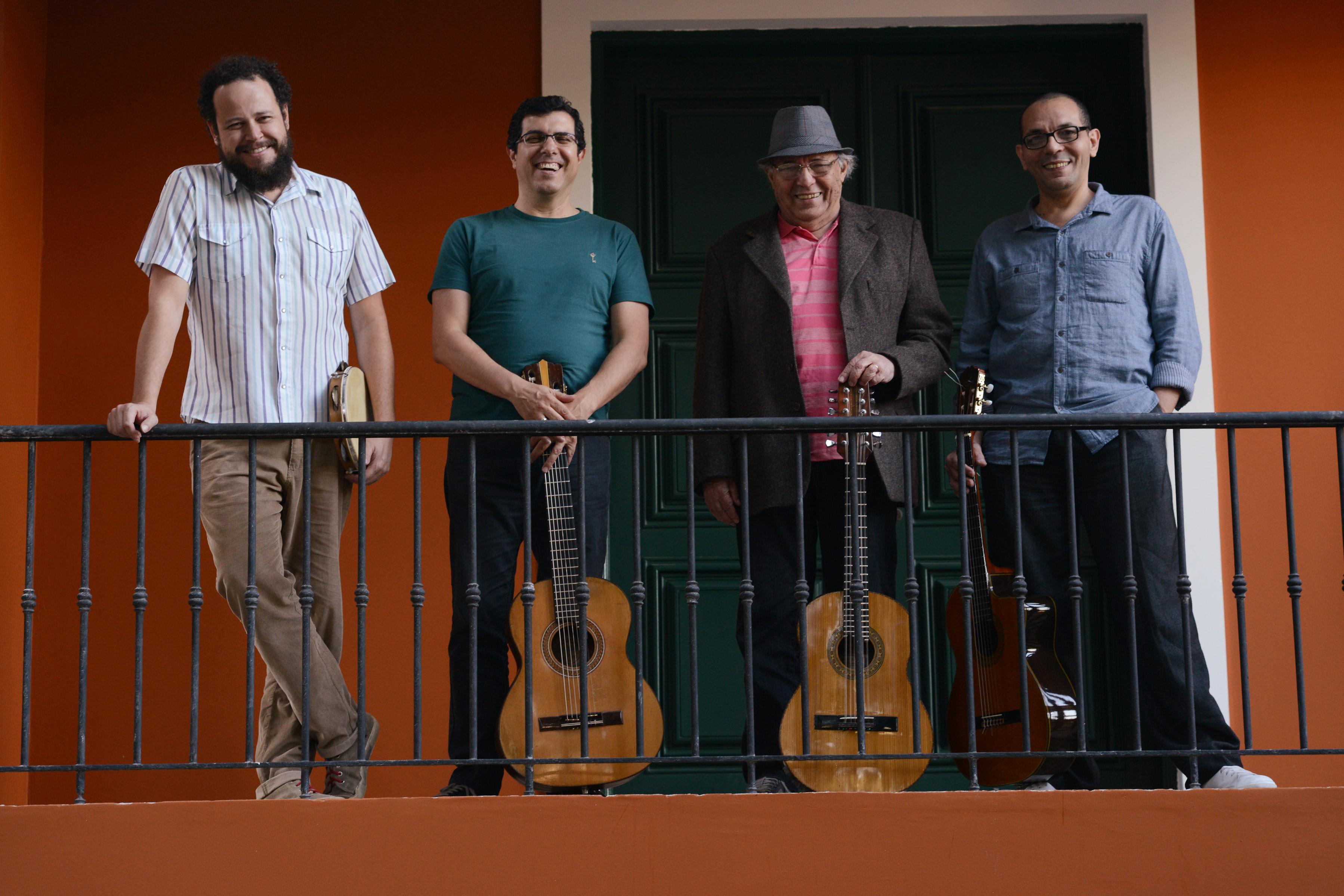 Cleber Almeida, Edmilson Capelupi, Heraldo do Monte e Luís do Monte: o grupo do CD Foto: Joaquim Nabuco / Divulgação